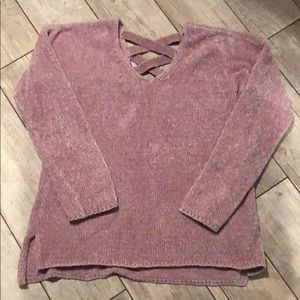 Pink Rose Mauve Super Soft Sweater Sz M